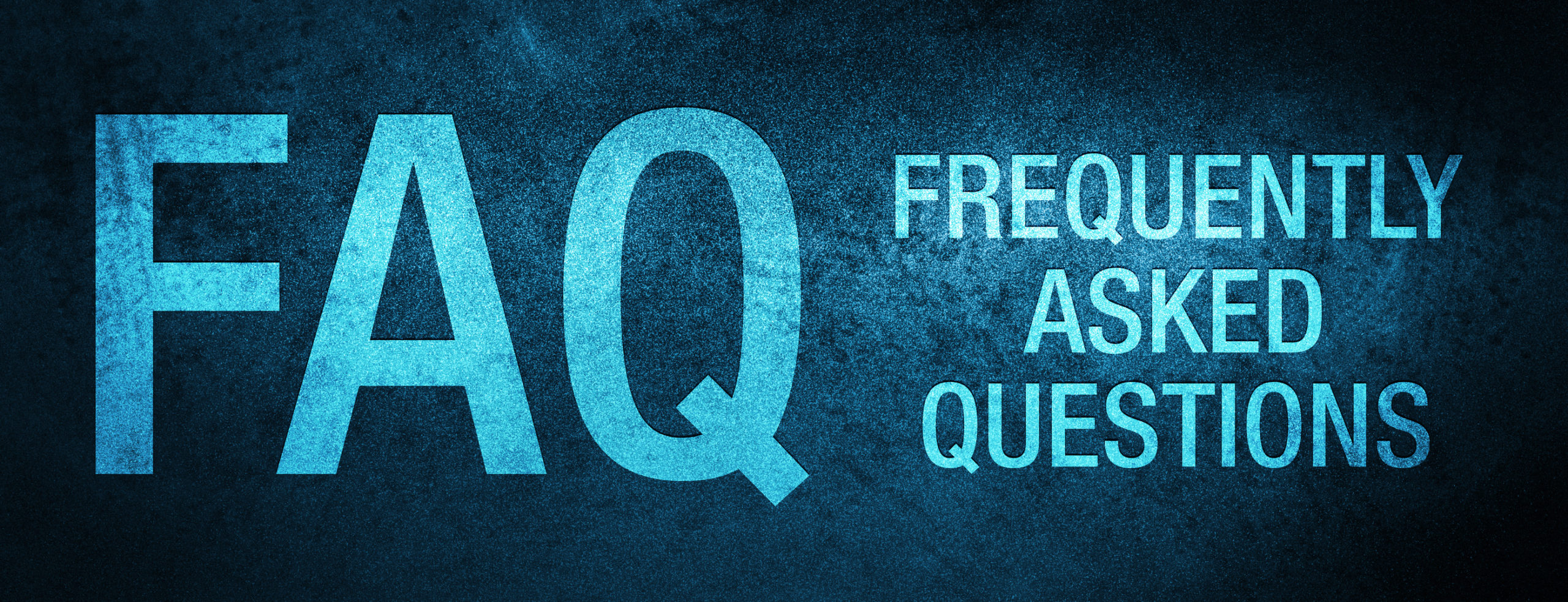 FAQ frequently asked questions special blue banner background - Crosslin